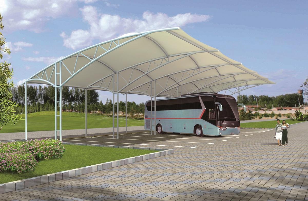 大型汽车棚 大型停车棚 大型车棚 大型膜结构车棚