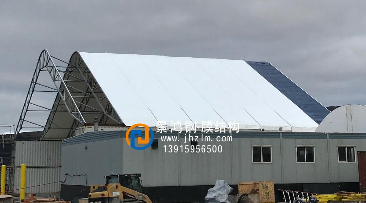 大型工厂仓储固定雨棚004