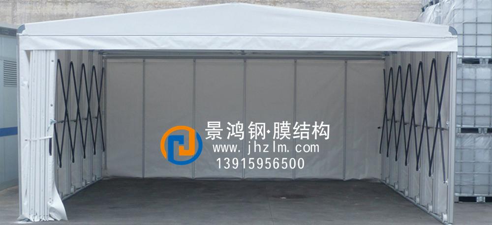 工厂仓储推拉雨篷仓库004