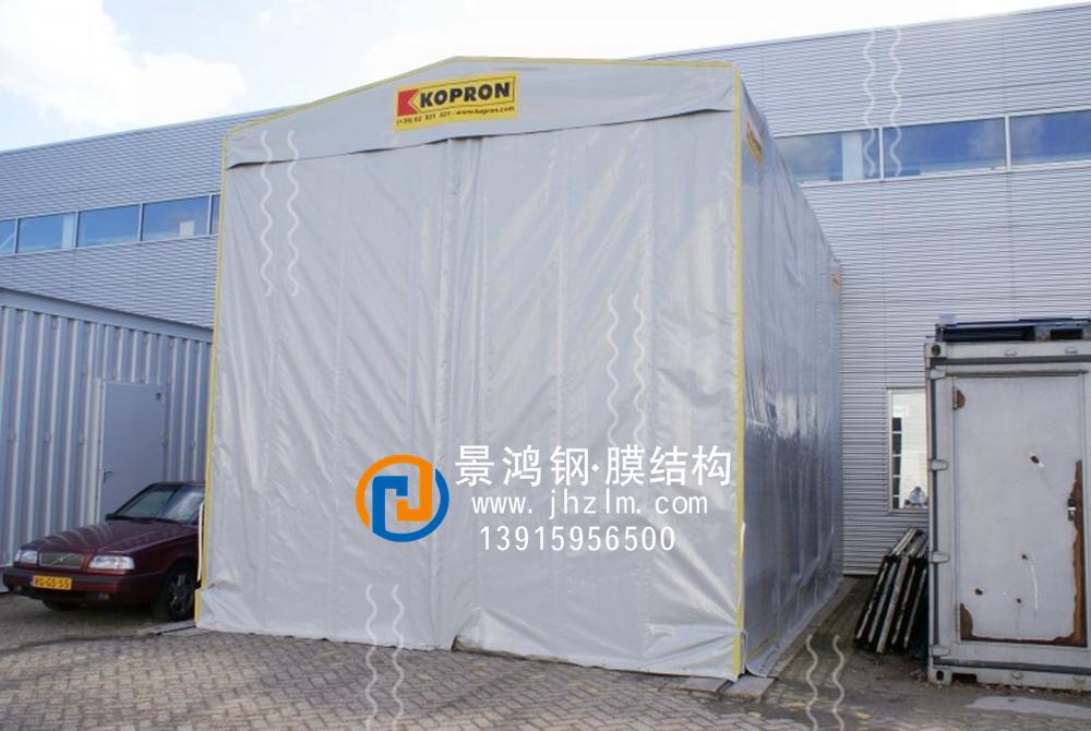 工厂物料 临时堆放 仓储推拉雨篷仓库 仓储推拉雨篷