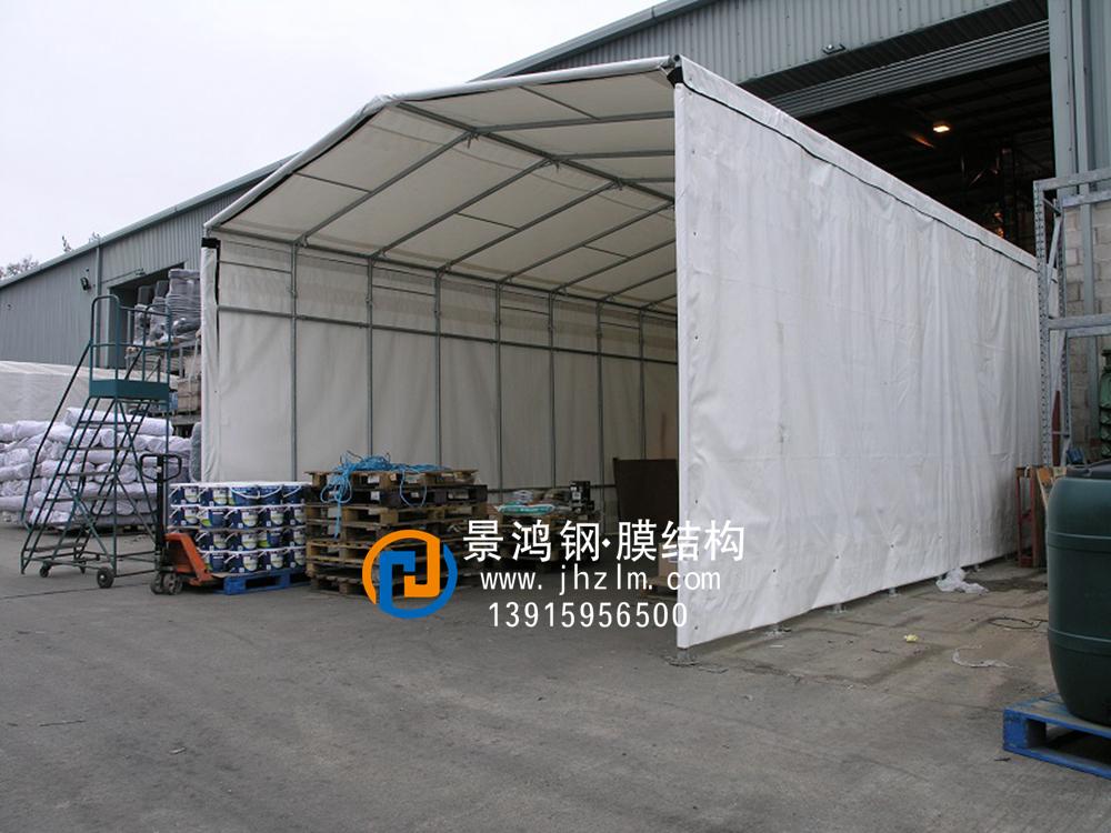 工厂物料 临时堆放 仓储推拉雨篷仓库