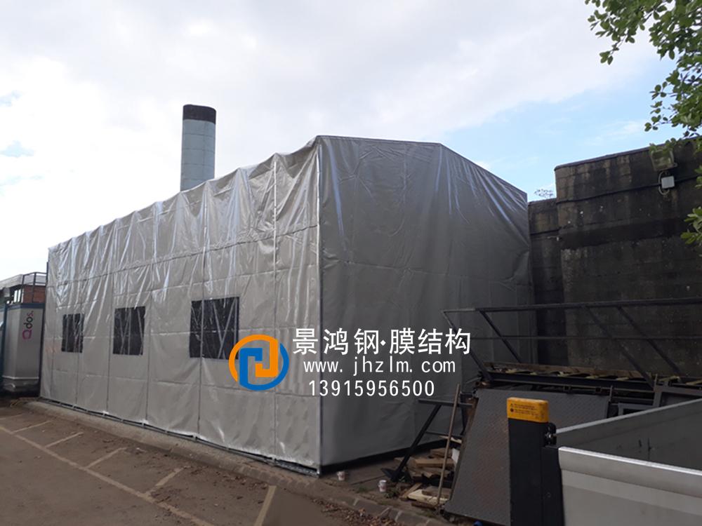 工厂物料 临时堆放 仓储推拉雨篷仓库推拉雨篷仓库