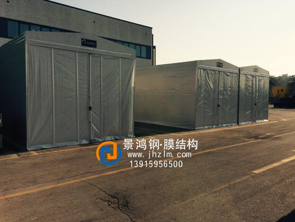 工厂物料 临时堆放 仓储推拉雨篷仓库仓库推拉雨篷