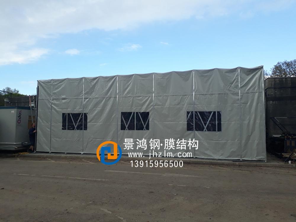 工厂物料 临时堆放 仓储推拉雨篷仓库仓库伸缩推拉雨篷