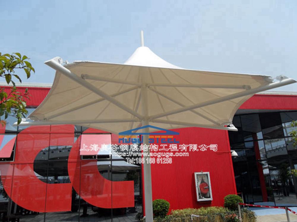 组装式膜伞 装配式膜伞 建筑雨伞