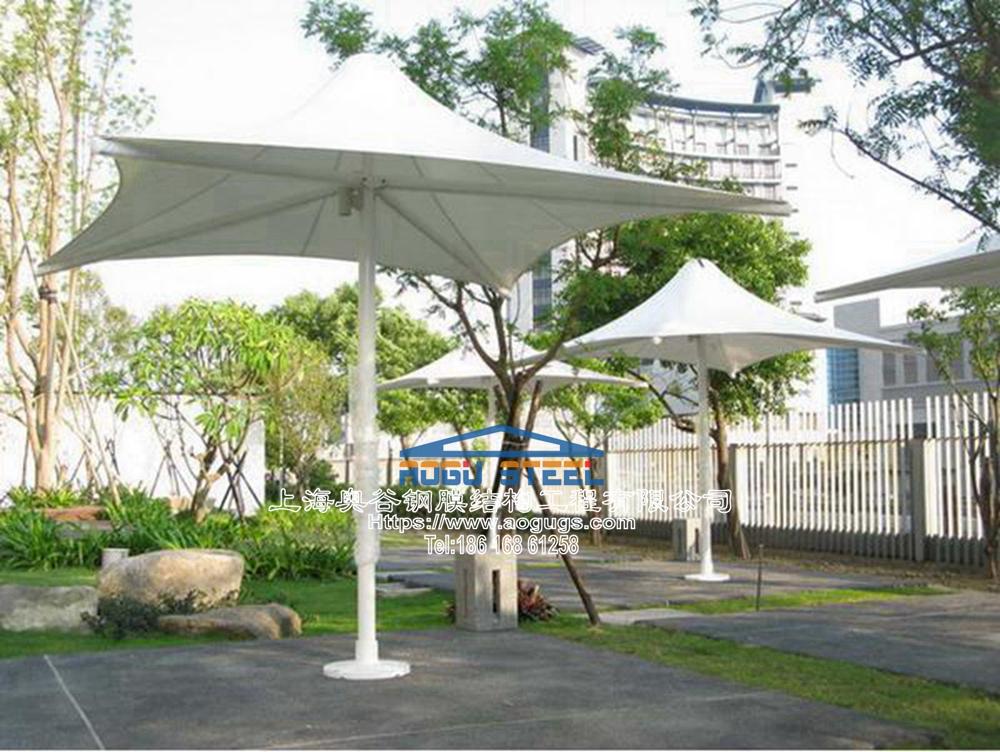 大型户外休闲别墅庭院遮阳伞